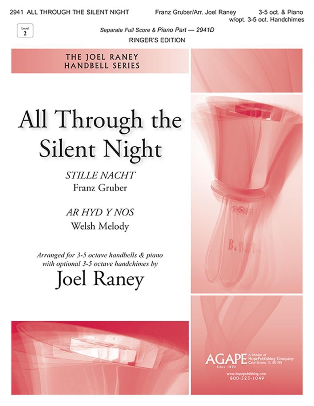 All Through the Silent Night: Handbells: Score