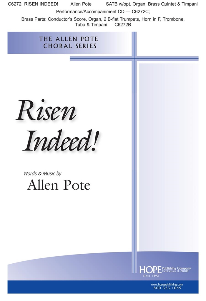 Allen Pote: Risen Indeed!: Brass Ensemble: Score and Parts