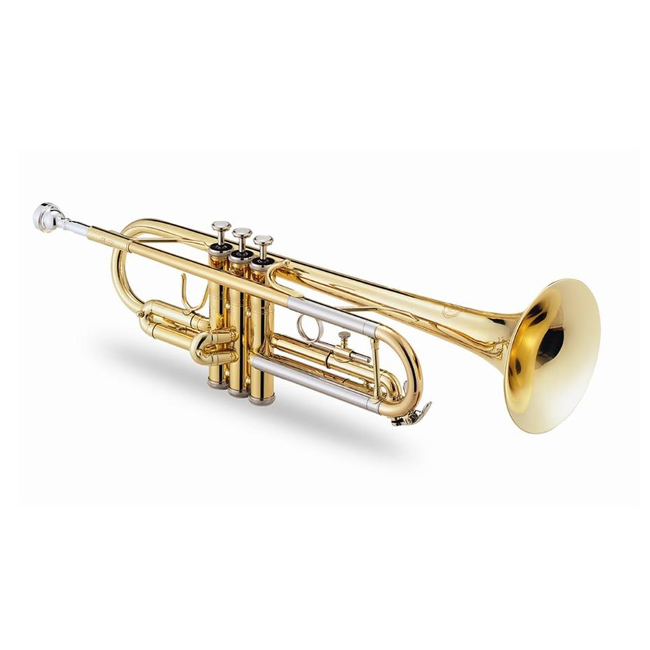 500 Bb Trumpet Lacquered Gold Brass Nickel Silver: Trumpet