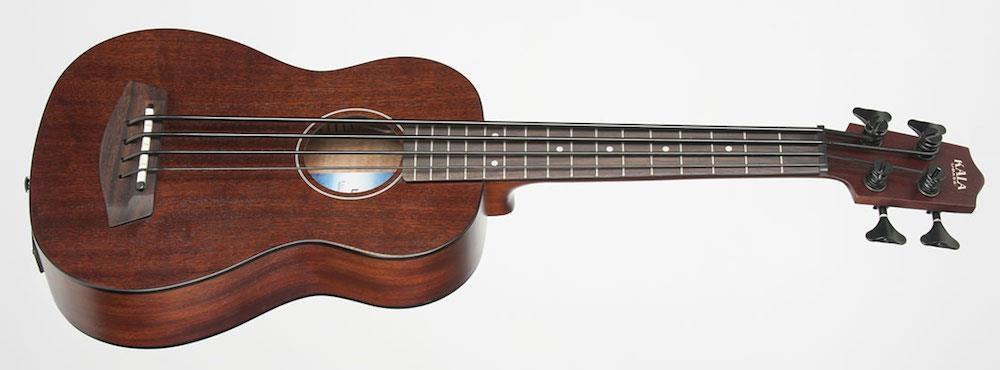Rumbler U-Bass Fretted Solid Mahogany Uke: Ukulele