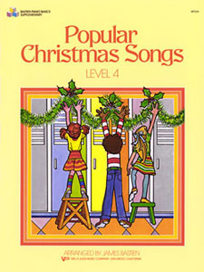 Click to view product details and reviews for James Bastien Popular Christmas Songs 4 Piano Mixed Songbook.