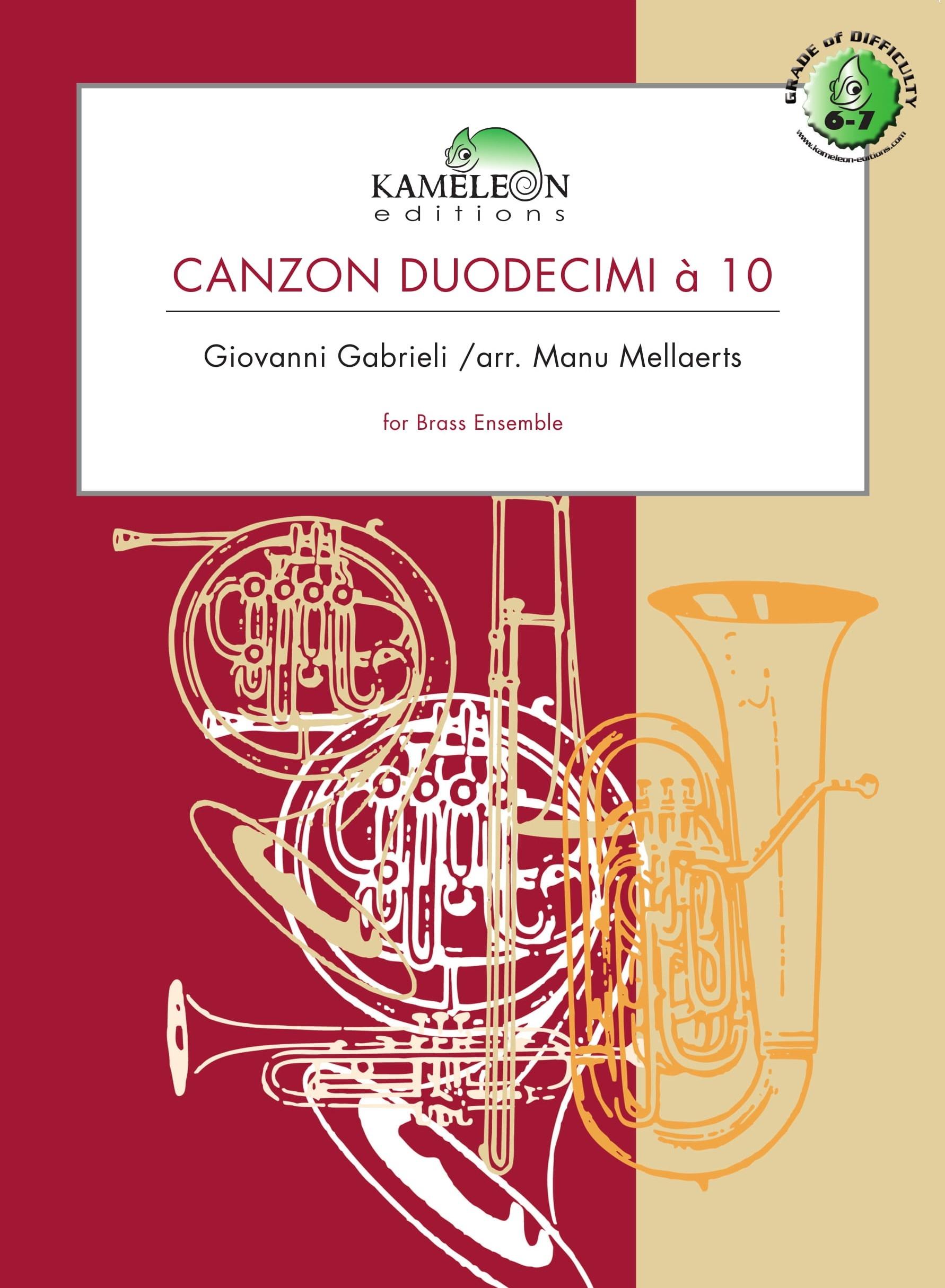 Giovanni Gabrieli: Canzon Duodecimi à 10: Brass Ensemble: Score & Parts