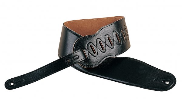 3.5 Inch Extra Long Padded Leather Strap Black: Strap