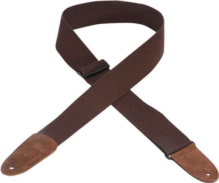 Brown Cotton Guitar Strap: Strap