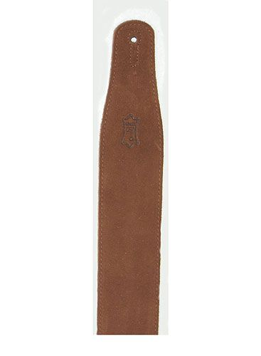MS26 Suede Leather Guitar Strap Brown: Strap