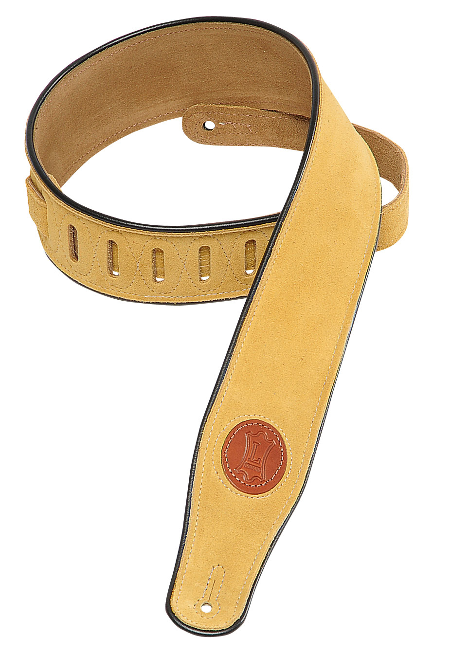 MSS3 Suede Leather Guitar Strap Tan: Strap