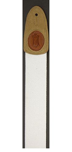Cotton Guitar Strap White: Strap