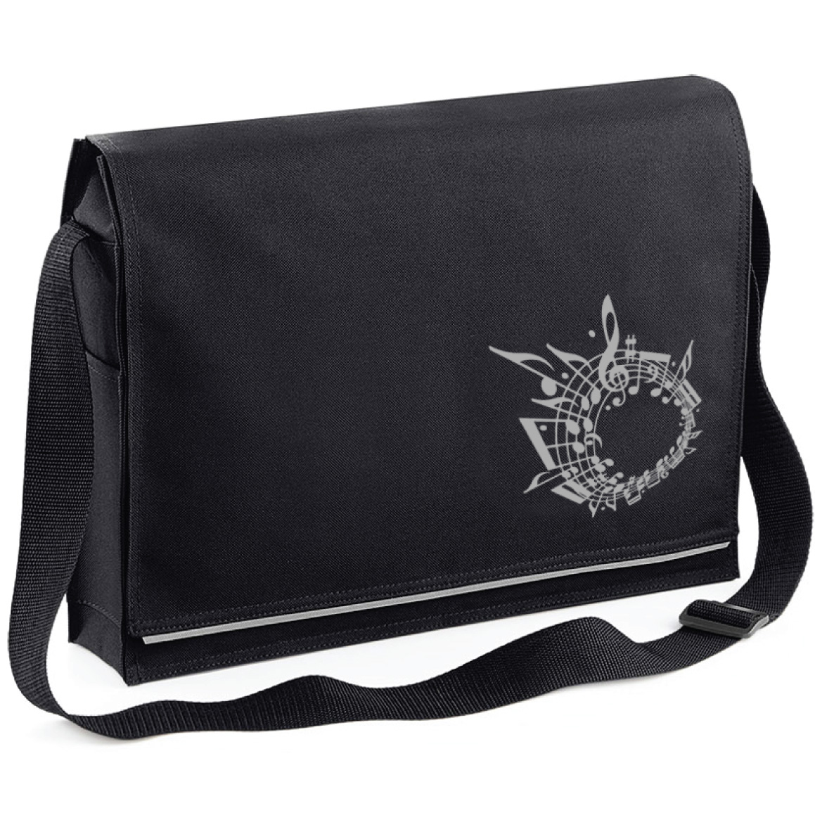 Mapac Black Music Messenger Bag: Music Bag