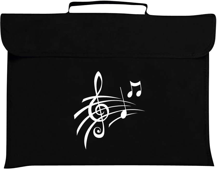 Mapac: Music Bag - Treble Clef & Notes (Black): Music Bag