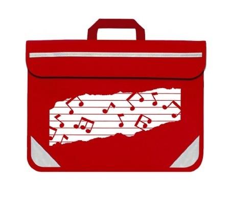 Mapac: Music Bag Duo - Music Notes (Red): Music Bag
