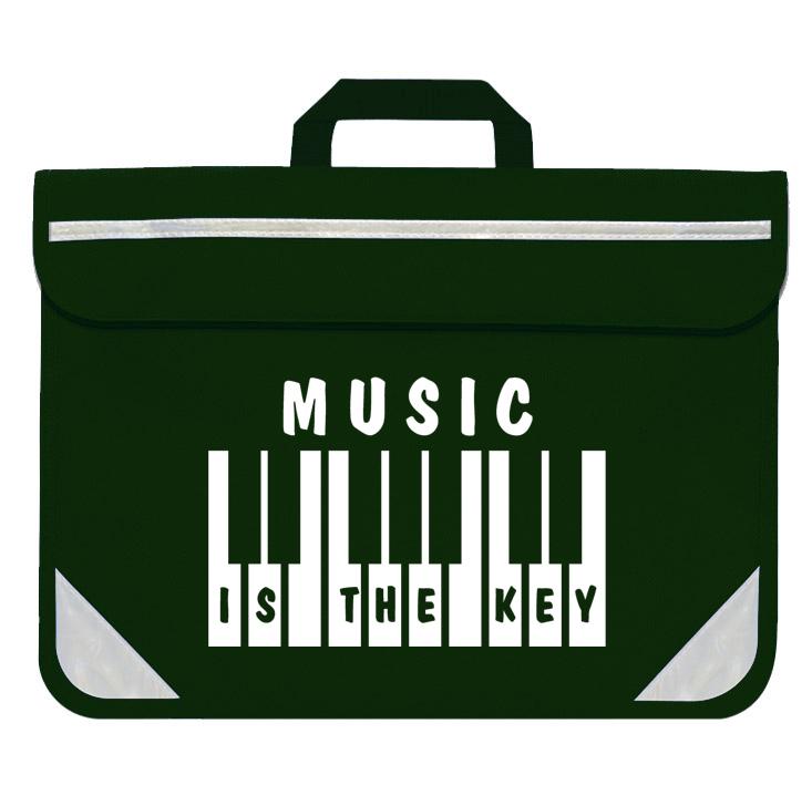 Mapac: Piano/Keyboard Music Bag - Music Is The Key (Green)