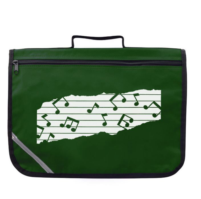 Mapac: Excel Music Bag - Music Notes Green