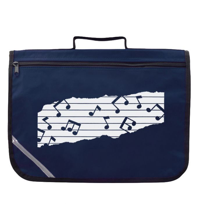 Mapac Music Bag with Shoulder Strap - Navy Blue