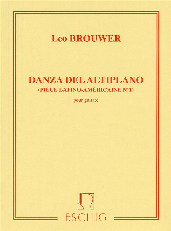 Leo Brouwer: Danza Del Altiplano: Guitar: Instrumental Work