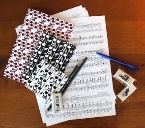Music Gift MG-313 Hidden Music Notebooks Set of 4 Pieces Multicolour