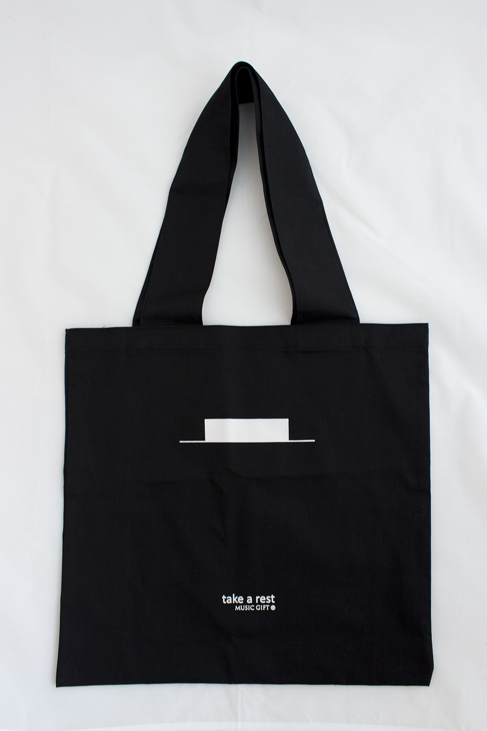 Music Gift MG-040 Take A Rest Tote Bag Set of 2 Pieces Colour-Black