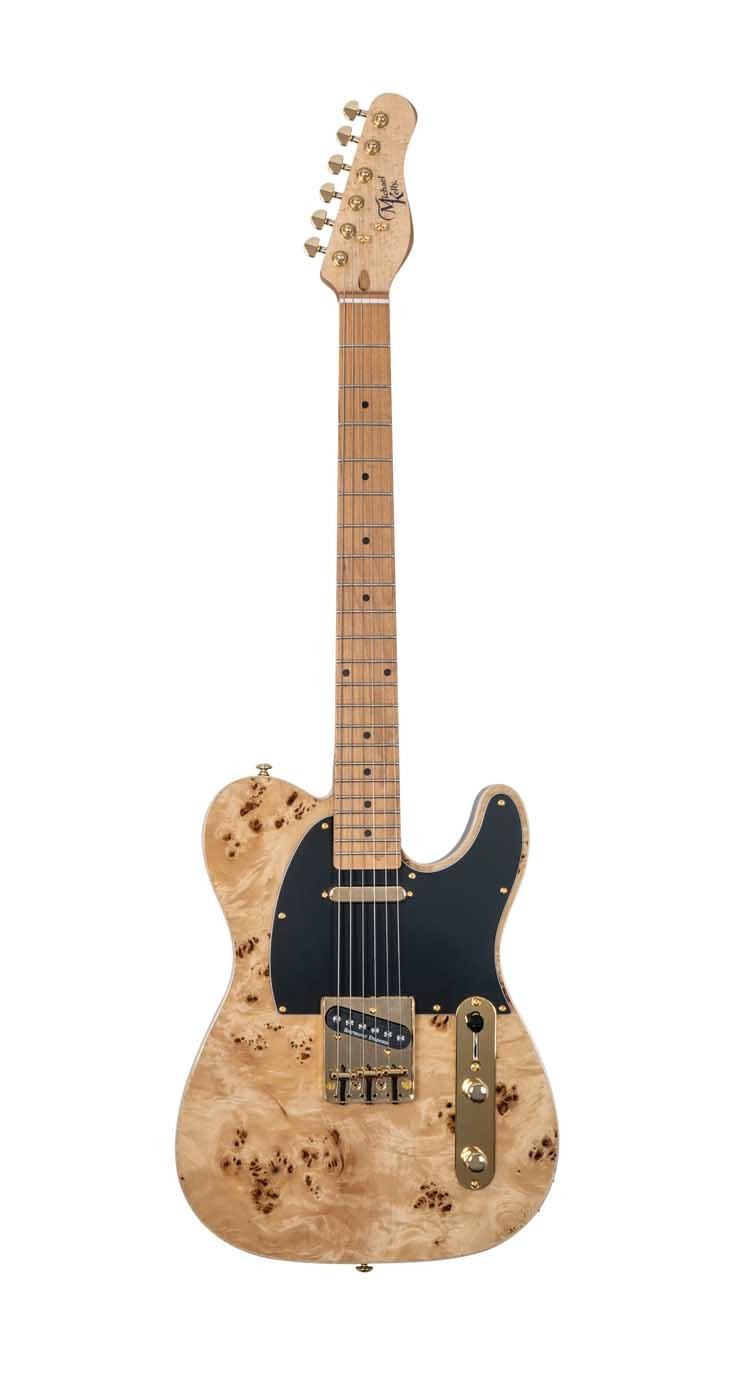 Michael Kelly: 50 ModShop Elec Guitar - Nat Burl: Electric Guitar