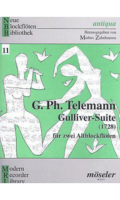 Georg Philipp Telemann: Gulliver Suite for 2 Alto Recorders: Recorder Ensemble: