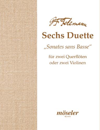 Georg Philipp Telemann: Sechs Duette: Flute Duet: Instrumental Album