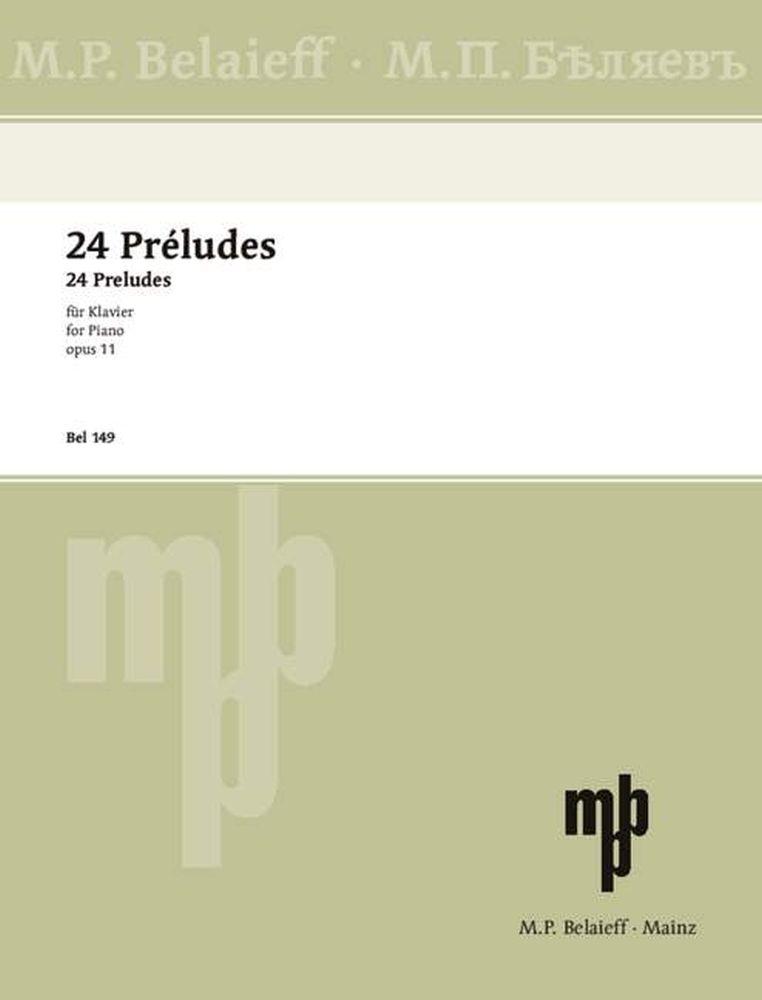 Alexander Skrjabin: 24 Preludes Opus 11: Piano: Instrumental Work