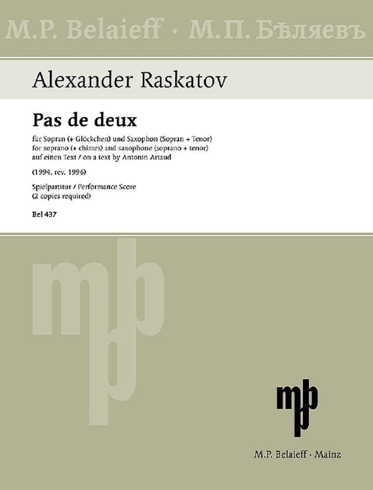 Alexander Raskatov: Pas De Deux: Soprano: Vocal Work