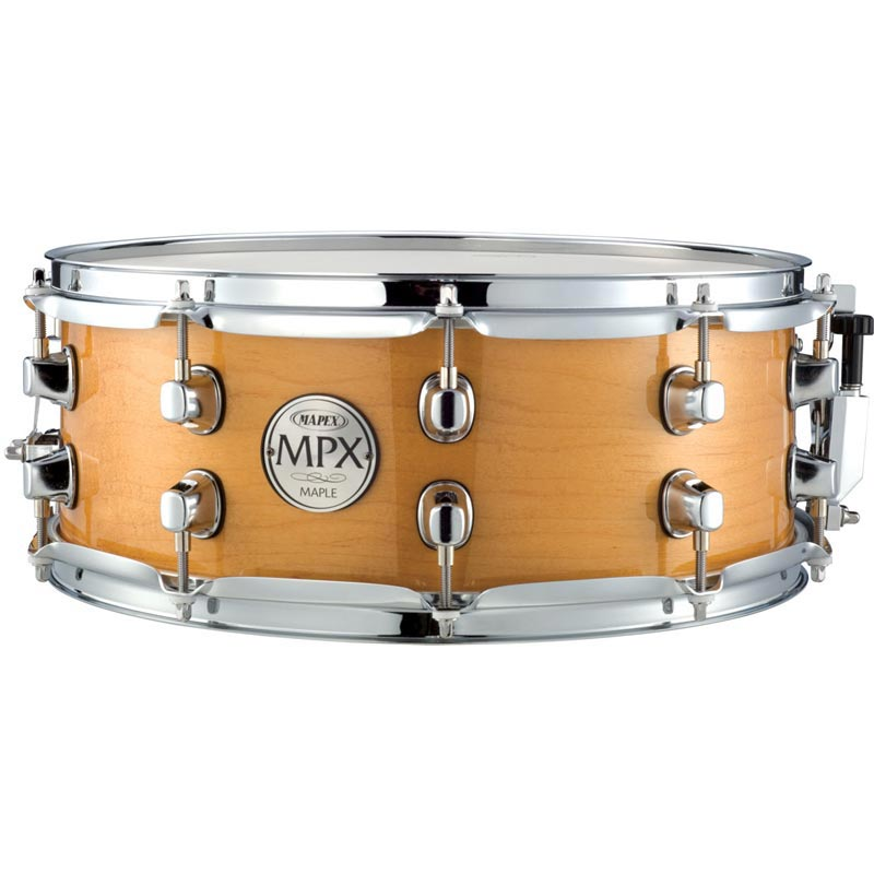 14X5.5 Maple Snare Natural With Chrome Fittings: Drum Kit