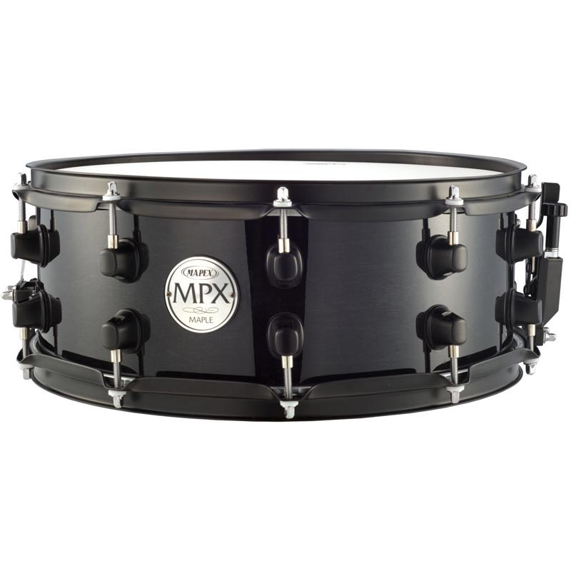 14X5.5 Maple Snare Black With Black Fittings: Drum Kit