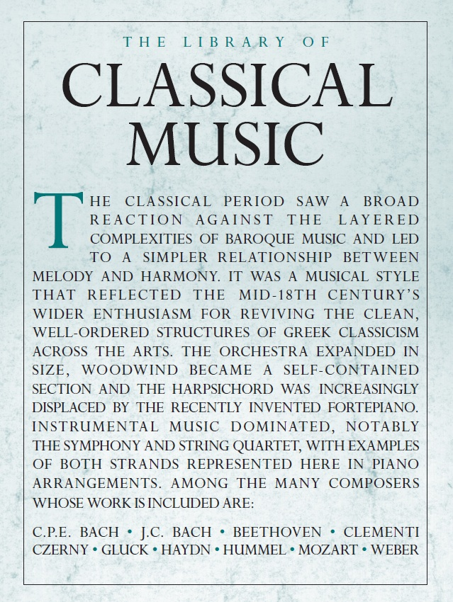 The Library Of Classical Music: Piano: Mixed Songbook