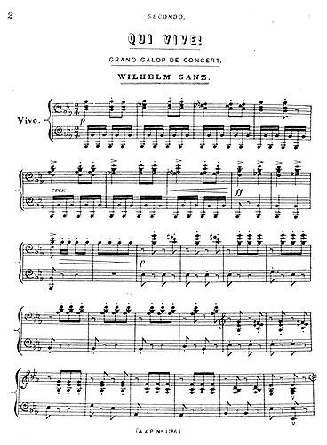 Wilhelm Ganz: Qui Vive: Piano Duet: Instrumental Work