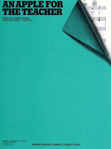 An Apple For The Teacher: Piano Vocal Guitar: Single Sheet