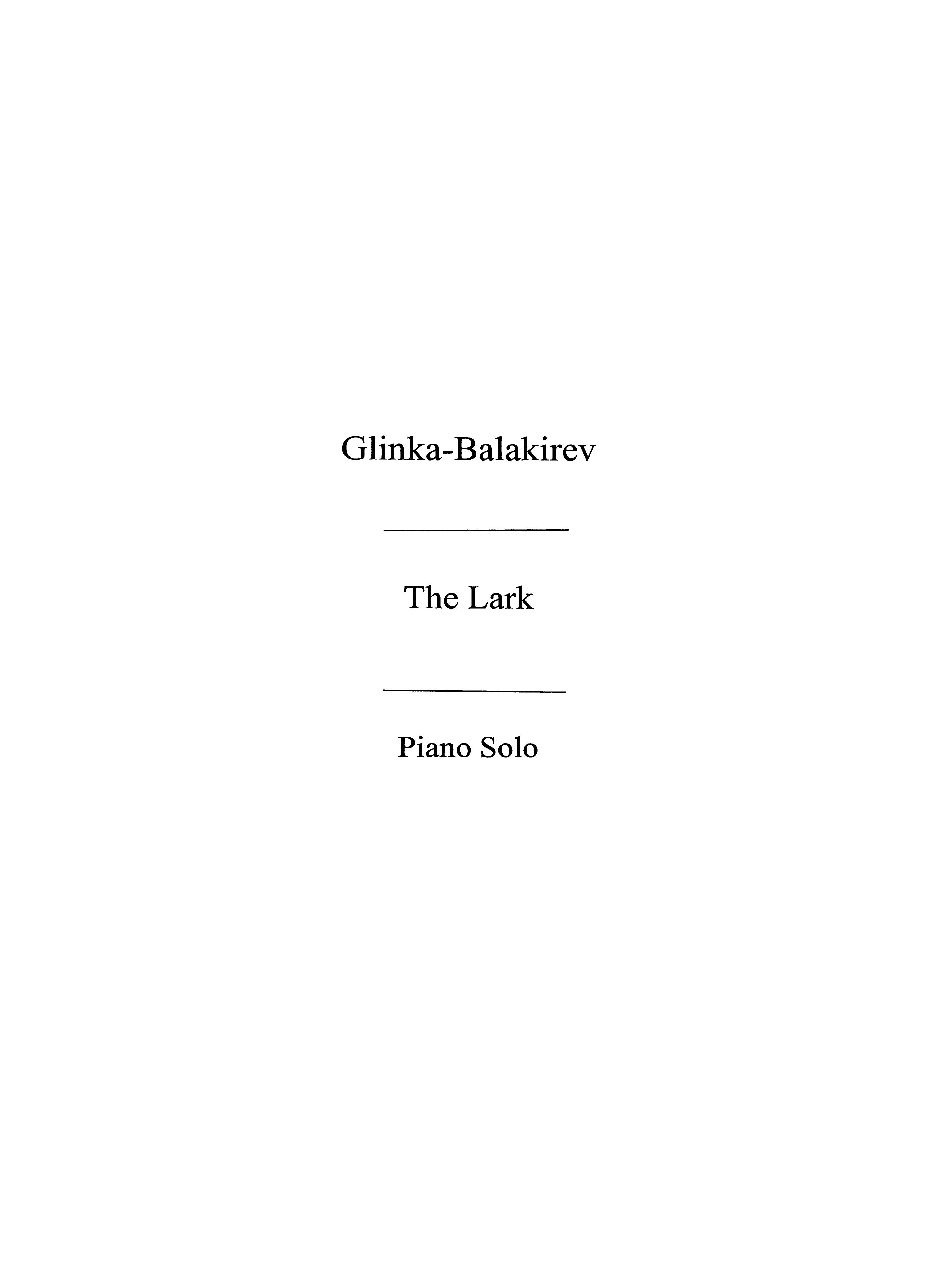 Mikhail Glinka: The Lark - L
