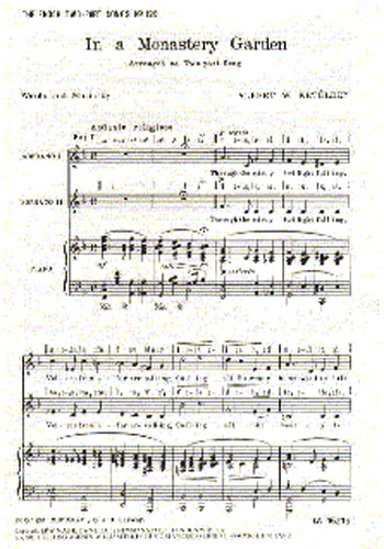 Albert Ketèlbey: In A Monastery Garden: Soprano: Vocal Score