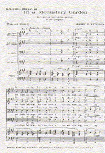 Albert Ketèlbey: In A Monastery Garden: TTBB: Vocal Score