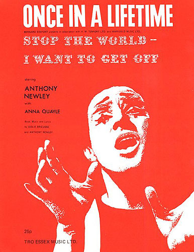 Anthony Newley Leslie Bricusse: Once In A Liftime: Voice: Single Sheet