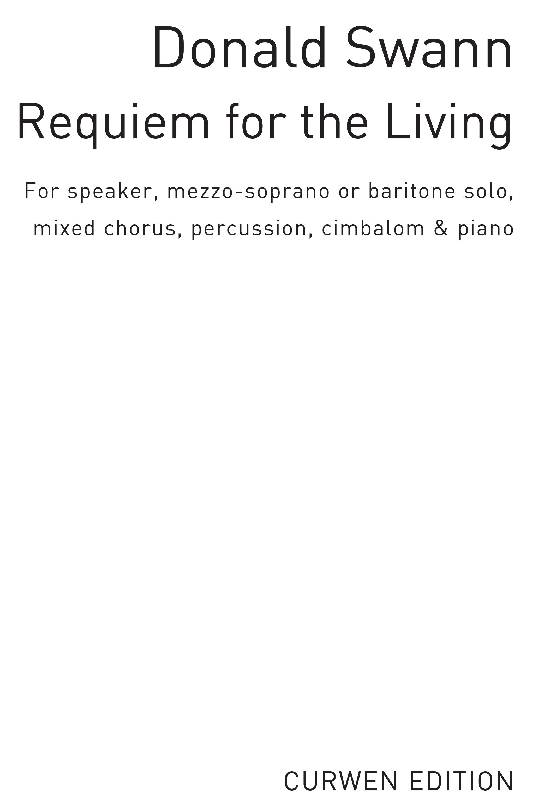 Donald Swann: Requiem For The Living: SATB: Vocal Score