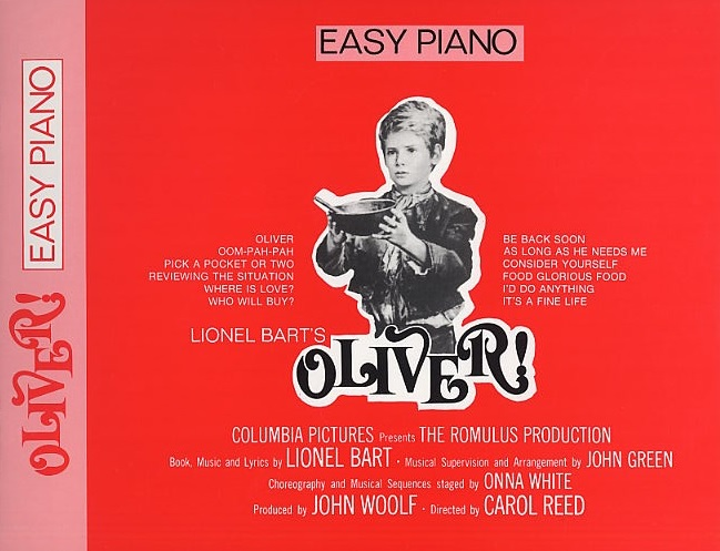Lionel Bart: Oliver! (Easy Piano): Voice: Mixed Songbook