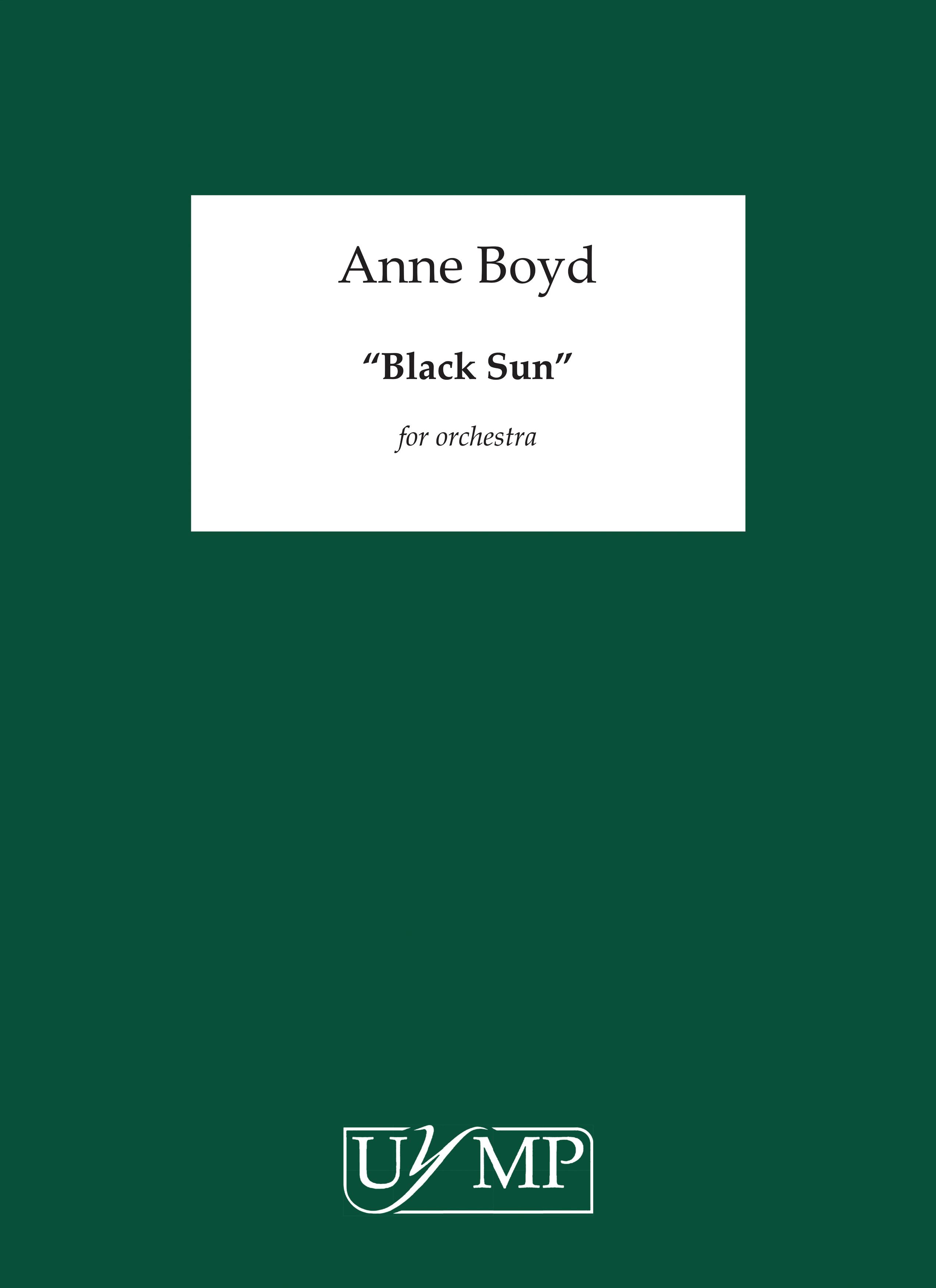 Anne Boyd: Black Sun: Orchestra: Score