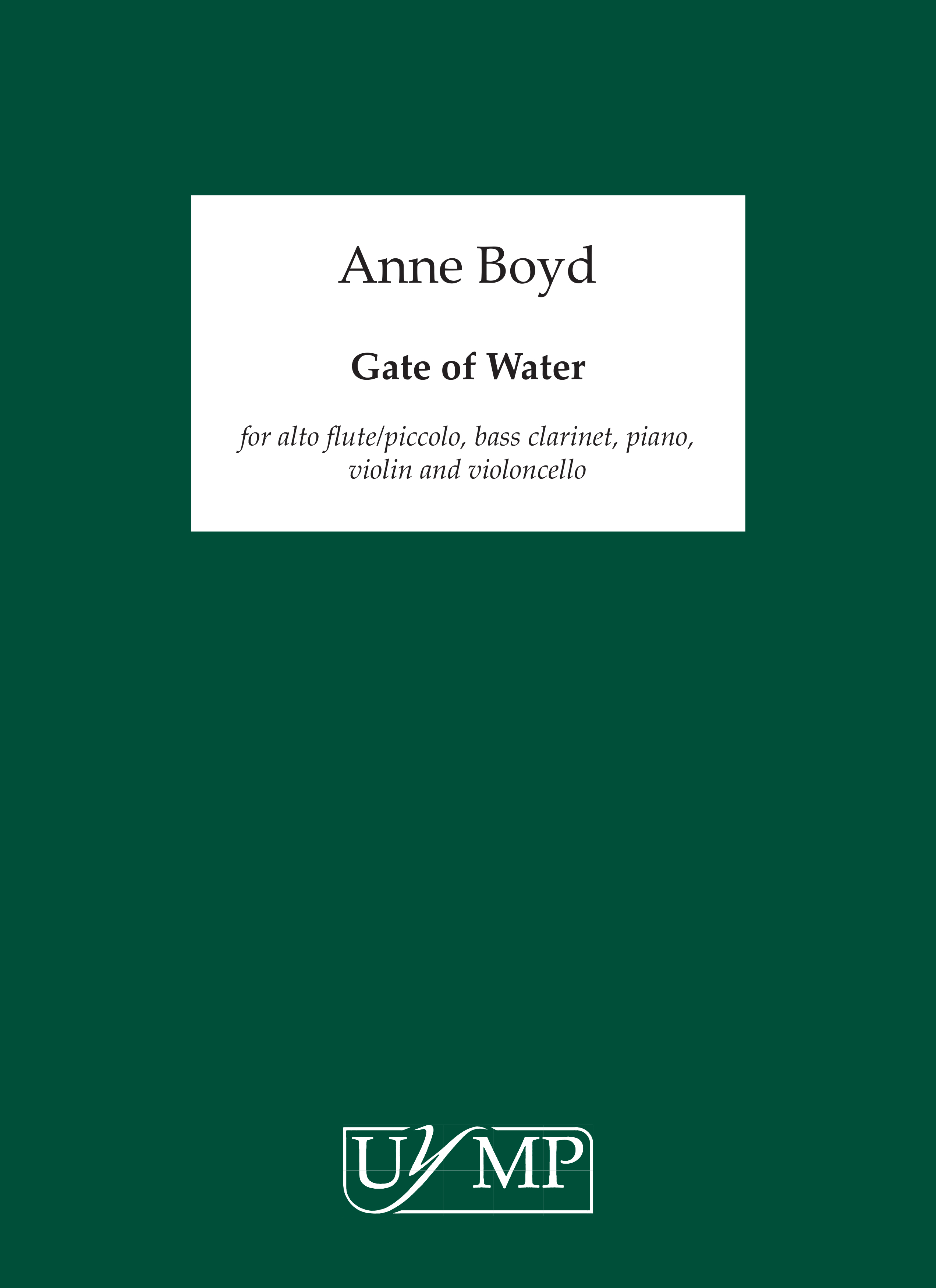Anne Boyd: Gate of Water: Chamber Ensemble: Score