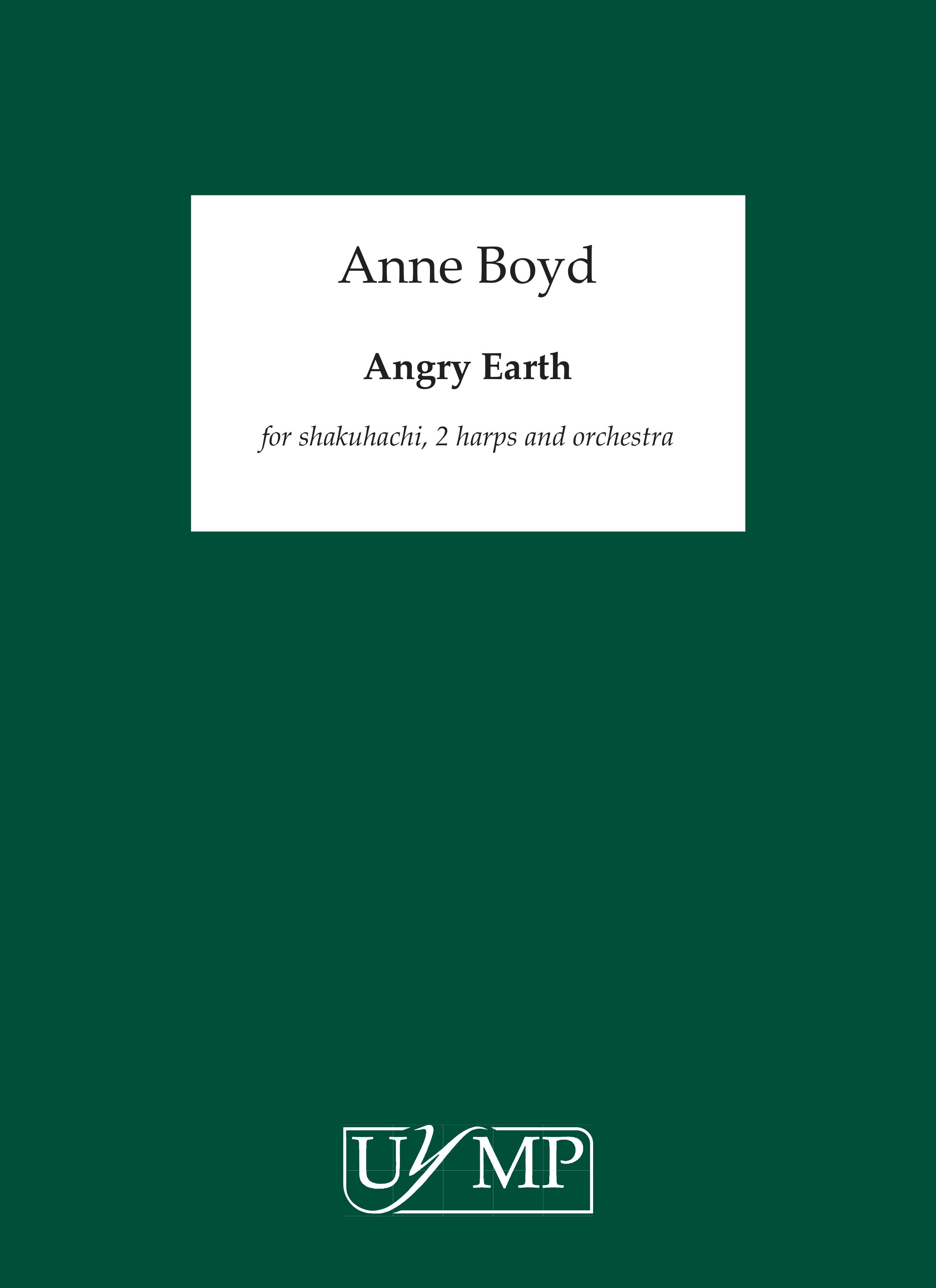 Anne Boyd: Angry Earth: Shakuhachi: Score