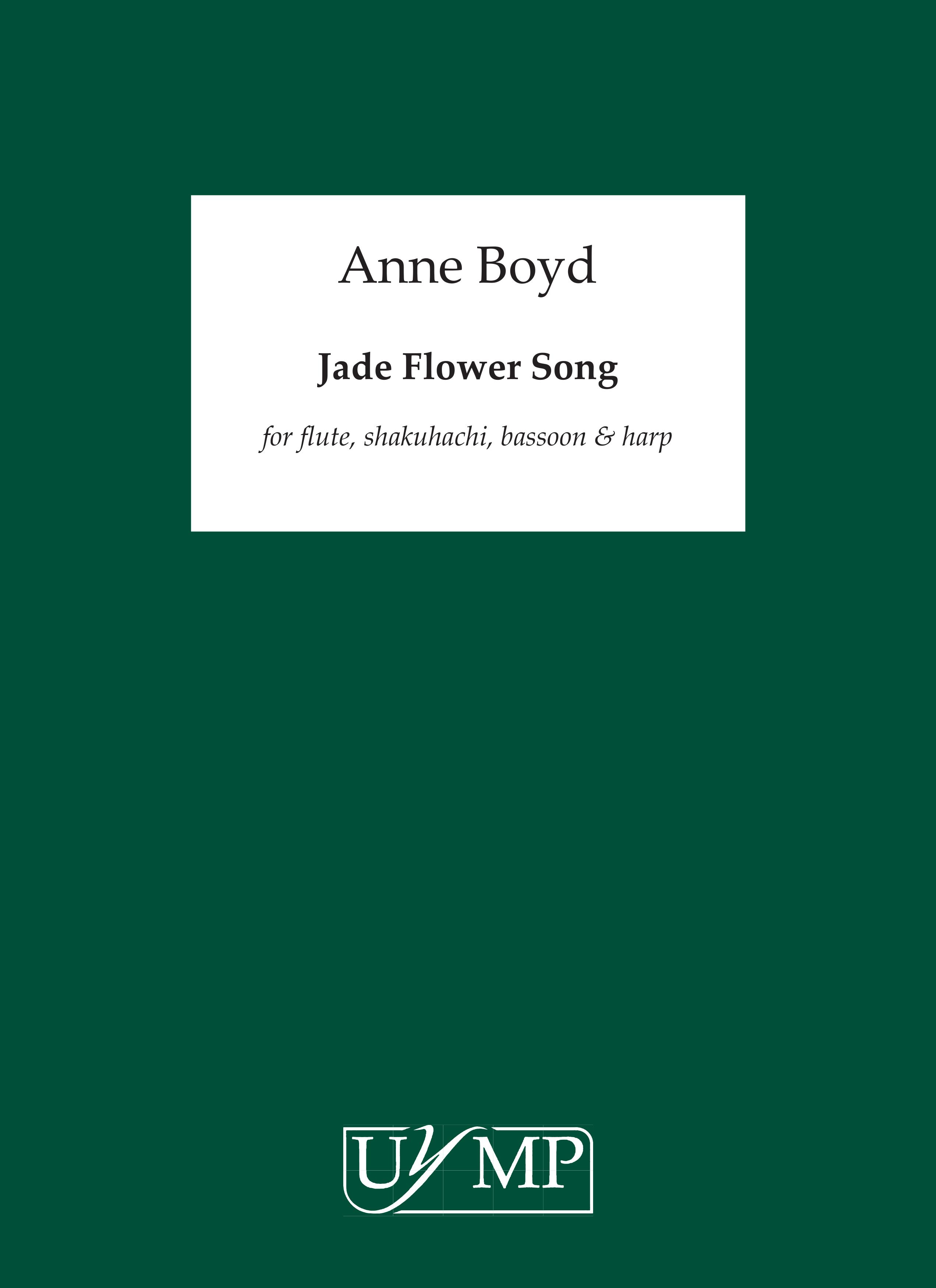 Anne Boyd: Jade Flower Song: Chamber Ensemble: Score