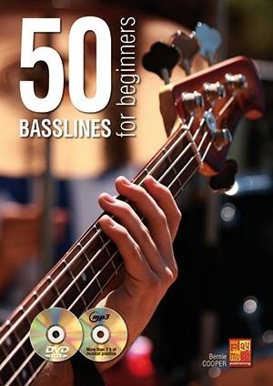 Bernie Cooper: 50 Basslines For Beginners: Bass Guitar: Instrumental Tutor