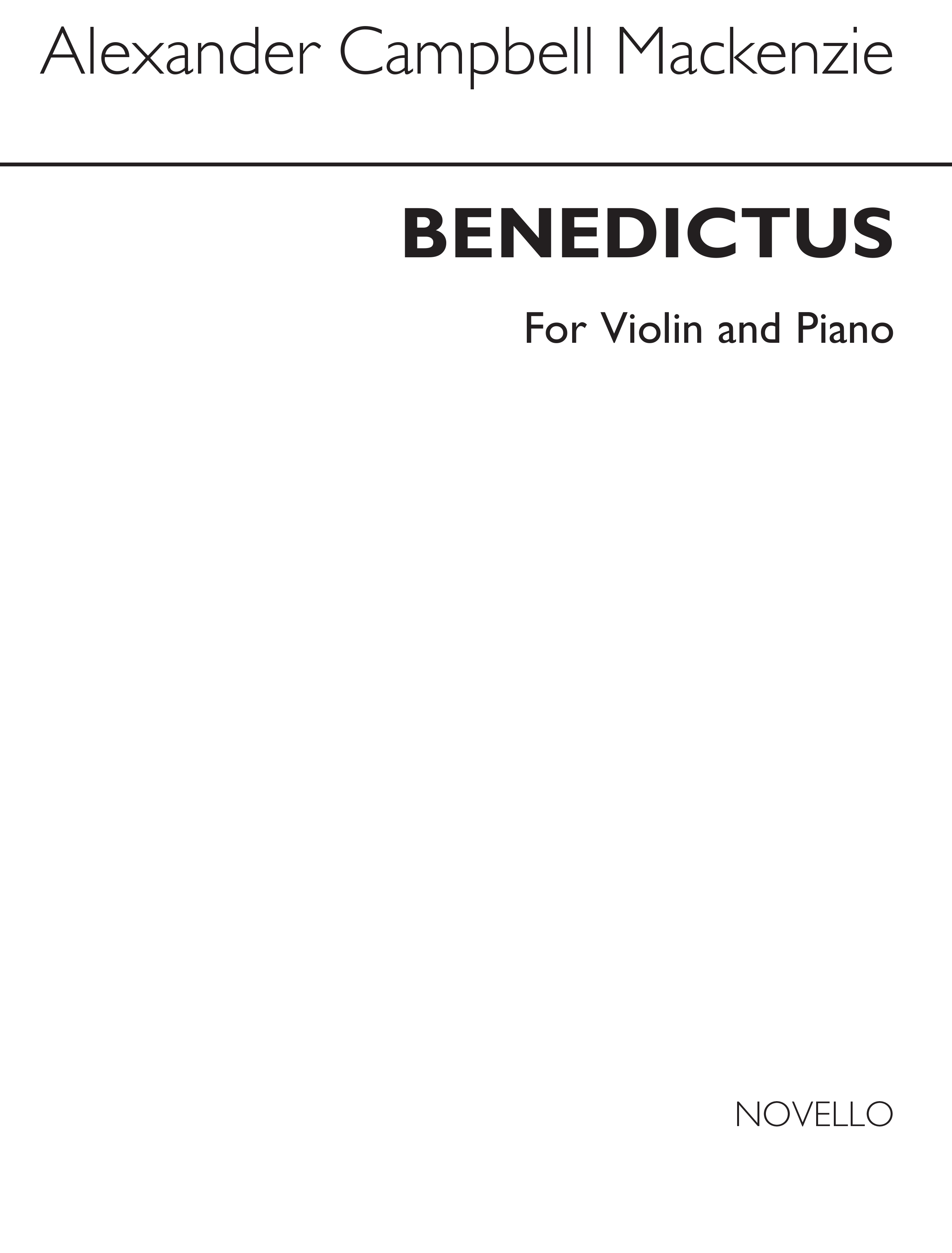A.C. MacKenzie: Benedictus for Violin and Piano: Violin: Score and Parts