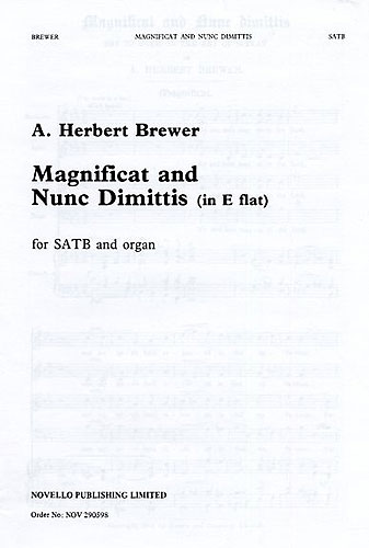 A. Herbert Brewer: Magnificat And Nunc Dimittis In E Flat: SATB: Vocal Score