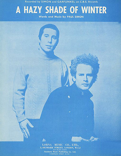 Art Garfunkel Paul Simon: A Hazy Shade Of Winter: Piano Vocal Guitar: Vocal