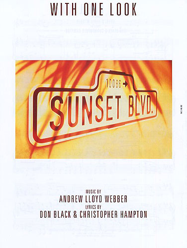 Andrew Lloyd Webber: With One Look: Piano Vocal Guitar: Single Sheet