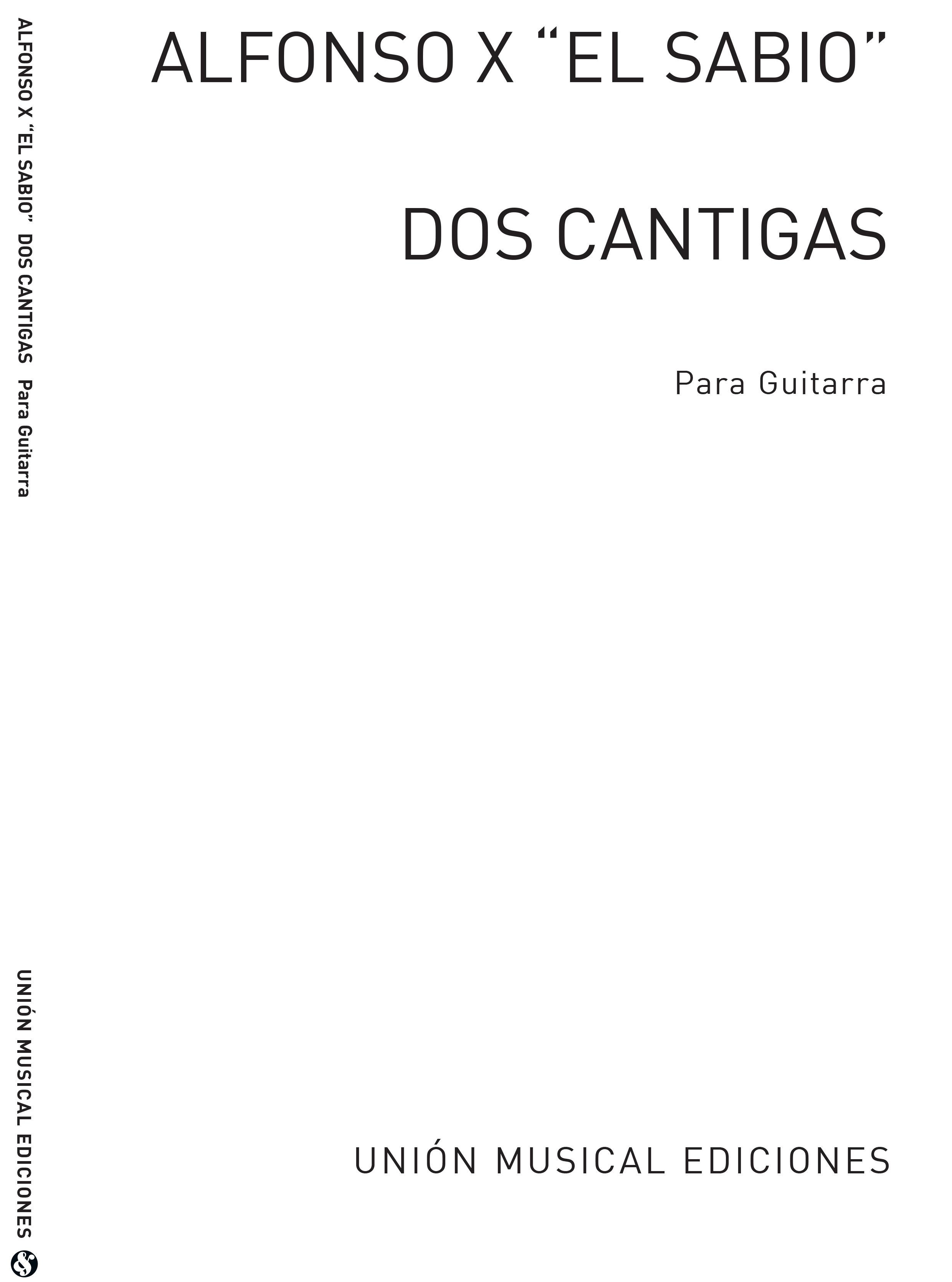 Alfonso X. El Sabio: Dos Cantigas: Guitar: Instrumental Work