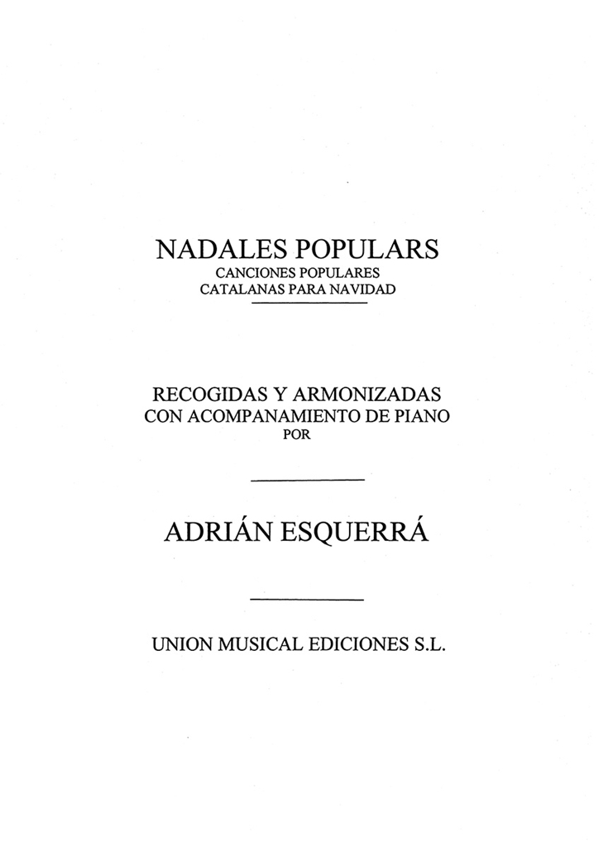Adrian Esquerra: Nadales Populares: Voice: Instrumental Work