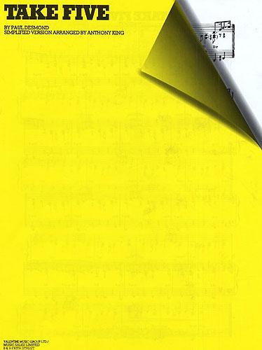 Paul Desmond: Paul Desmond: Take Five (Simplified Version): Piano: Single Sheet