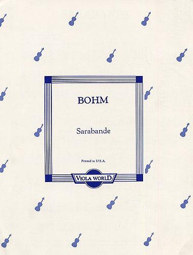 Carl Bohm: Sarabande For Viola And Piano: Viola: Instrumental Work