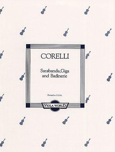 Arcangelo Corelli: Sarabande Giga And Badinerie For Viola And Piano: Viola: